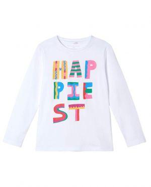 T-shirt fille à manches longues HAPPIEST