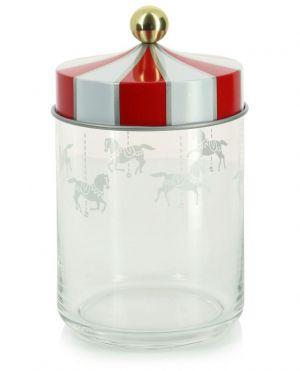 Bocal hermétique en verre Circus - H19 cm