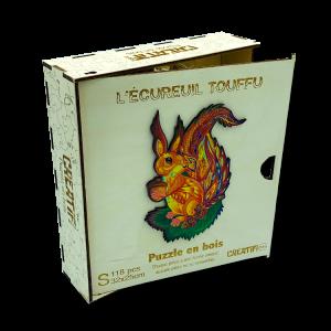 Puzzle en bois - L'écureuil Touffu