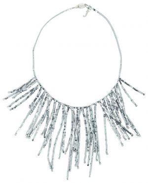 Collier à franges en perles cubiques Bia