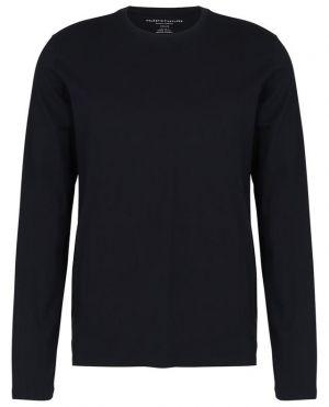 T-shirt col rond à manches longues en coton