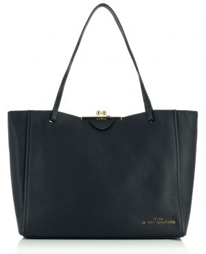 Grand sac cabas en cuir The Kiss Lock