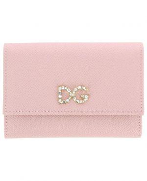 Petit portefeuille en cuir texturé DG Crystals