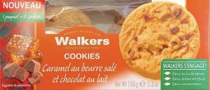 Walkers Caramel Beurre Sale Chocolat au Lait 150g