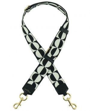 Bandoulière en tissu et cuir The Checkered Webbing