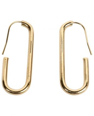 """Boucles d'oreilles dorées """"Maillon Ovale"""""""