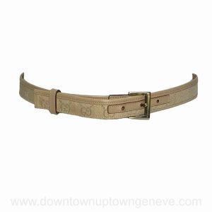 Gucci belt in beige leather and fabric