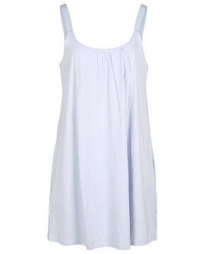 Chemise de nuit à bretelles en coton bio Kayla