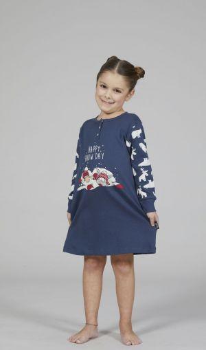 """Chemise de nuit enfant """"Snow day"""" en coton pour fille"""