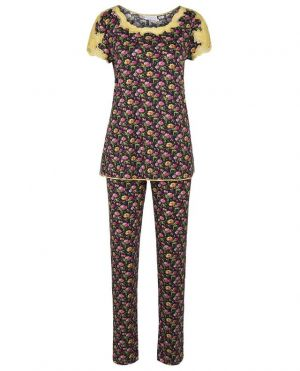 Pyjama en jersey et dentelle Kiwi