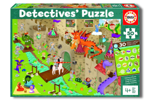 Puzzle 50 pcs - Le Château Detectives