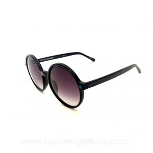 Linda Farrow Matthew Williamson sunglasses with black frames and aqua square sides