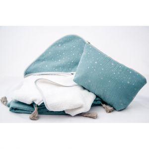 Linge de bain pour bébé en coton avec étoiles
