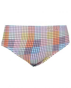 Bas de bikini taille haute imprimé multicolore
