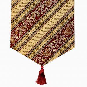 Chemin de table en cotton avec batik