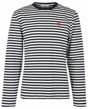 T-shirt marinière à manches longues brodée Ami de Coeur