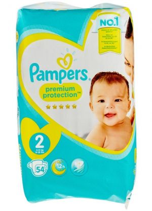 PAMPERS PREMIUM PROTECTION 54 PIECES GR2