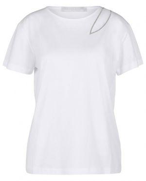 T-shirt en jersey orné de tulle