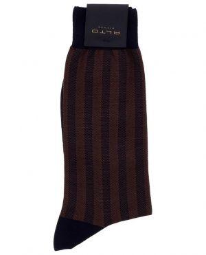 Chaussettes fines rayées Breton Short