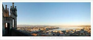 cartes postales panoramiques (lot de 10) - Genève vue de la cathédrale Saint-Pierre