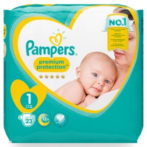 PAMPERS PREMIUM PROTECTION 23 PIECES GR1 2 à 5 KG