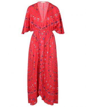 Robe longue en jersey imprimé à fentes Cherilyn