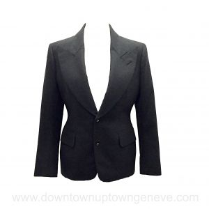 Tom Ford jacket in grey wool with stitched trim