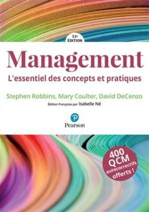 Management, 11e édition + MyLab - L'essentiel des concepts et pratiques de  Stephen Robbins David DeCenzo Mary Coulter