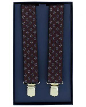Bretelles motif losanges