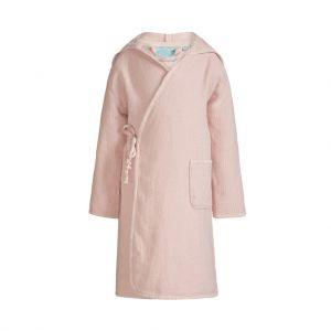 Peignoir rose enfant avec capuche en coton pour fille, collection bambou