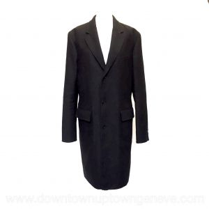 Louis Vuitton coat in dark brown cashmere and wool