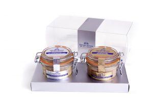 Duo de foie gras canard et oie nature