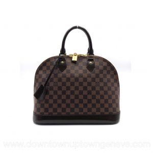 Louis Vuitton Alma MM bag in damier ebene
