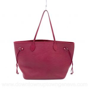 Louis Vuitton Neverfull MM tote bag in burgundy epi leather