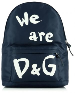 Sac à dos en nylon imprimé We are D&G
