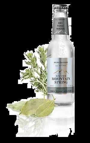 24 X SWISS MOUNTAIN SPRING DRY TONIC WATER Bottle 200ml