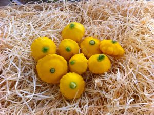 Mini pâtisson jaune