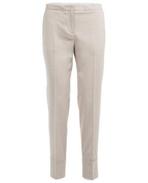 Pantalon droit en laine mérinos