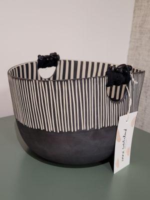 Corbeille/saladier noir en céramique