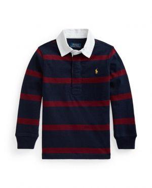 T-shirt de rugby ado en jersey rayé