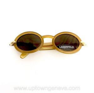 Karl Lagerfeld vintage sunglasses with goldtone round plastic frames
