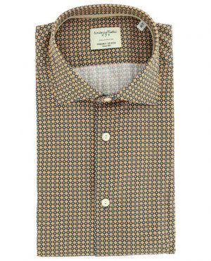 Chemise en coton fin à motif graphique