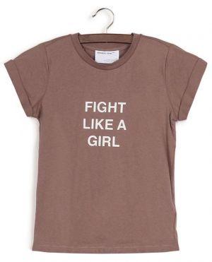 T-shirt imprimé slogan en coton recyclé Stanley Fight