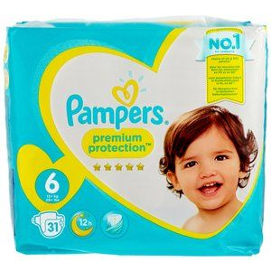PAMPERS PREM.P.EXTRA LARGE GR.6 13KG 31 PIECES