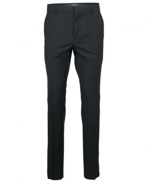 Pantalon slim en laine et mohair à rayures latérales